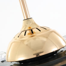 Retractable Crystal Ceiling Fan With Gold Finish - Details