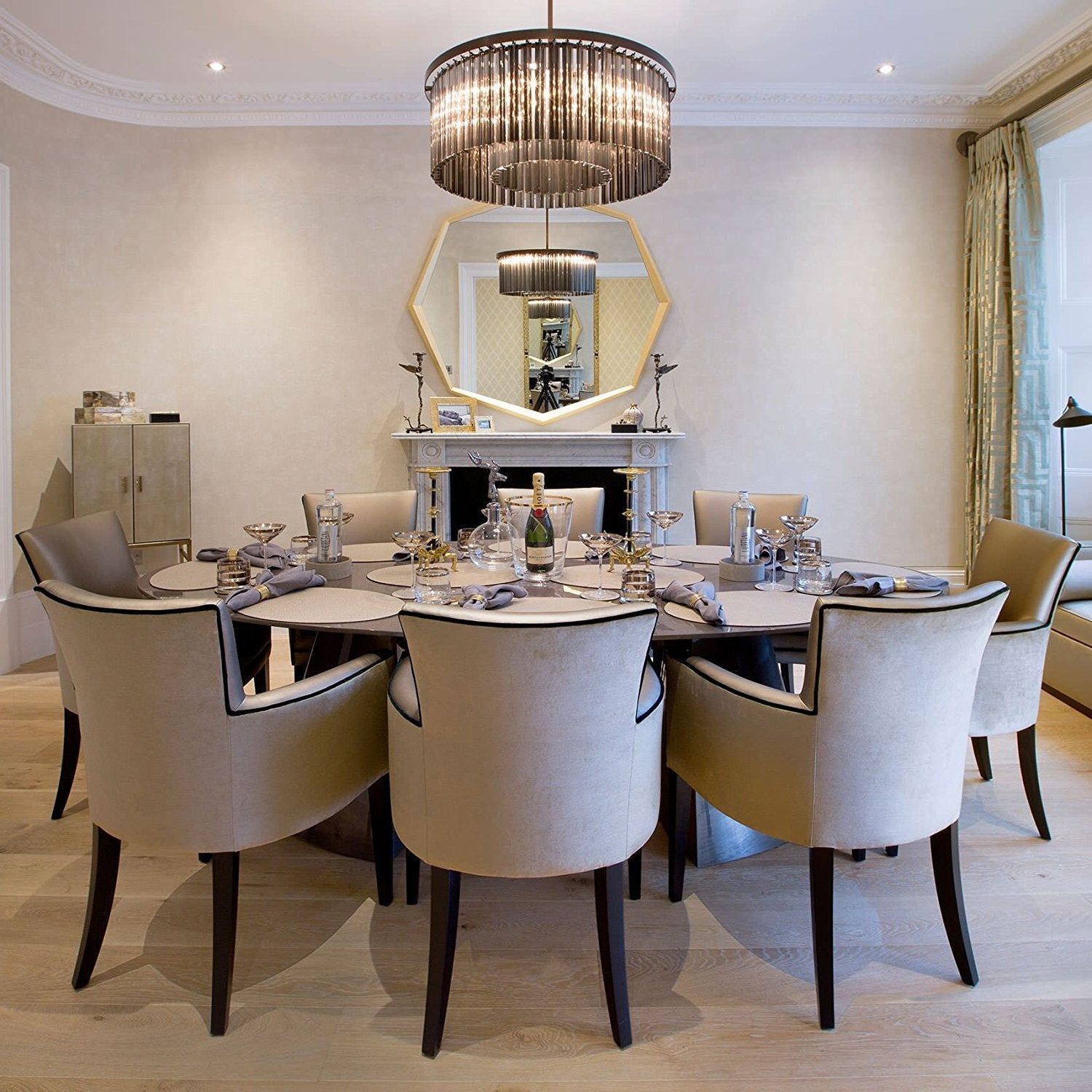 Glass Chandeliers For Dining Room: Rectangular Crystal Chandelier