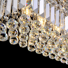 Rectangular Crystal Raindrop Chandelier Dining Room Details