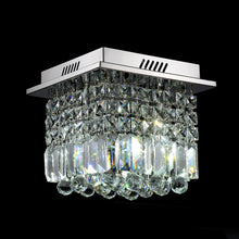 Little Square Crystal Raindrop Chandelier - Ceiling Lights