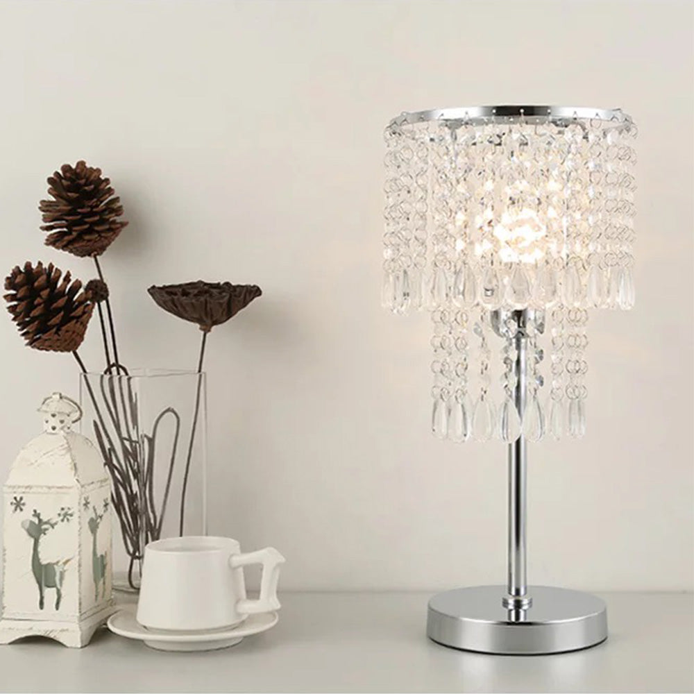 Bedside Crystal Table Lamp