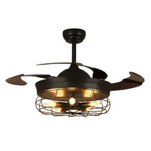 Black Industrial Ceiling Fan With Invisible Blades