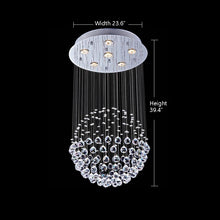Raindrop Crystal Chandelier - Single Sphere