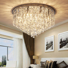 Contemporary Crystal Chandelier - Flush Mount Ceiling Lights - Bedroom
