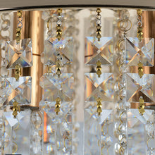 Contemporary Crystal Chandelier - Flush Mount Ceiling Lights - details