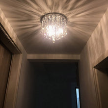 Contemporary Crystal Chandelier - Flush Mount Ceiling Lights