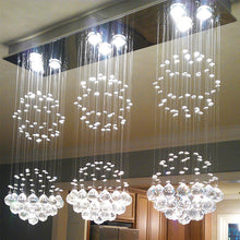 Contemporary Island Crystal Raindrop Chandelier - Dining Room Ceiling Light