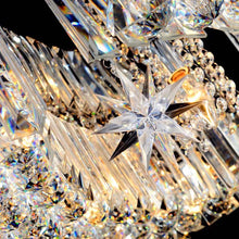 Elegant Moons and Stars Crystal  Chandelier - Ceiling Light - details