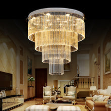 Four Layer Round Raindrop Chandelier - Ceiling Light - Living Room
