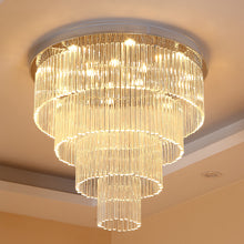 Four Layer Round Raindrop Chandelier - Ceiling Light