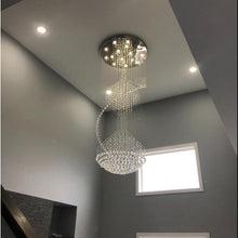 Large Raindrop Crystal Chandelier Ball Shape