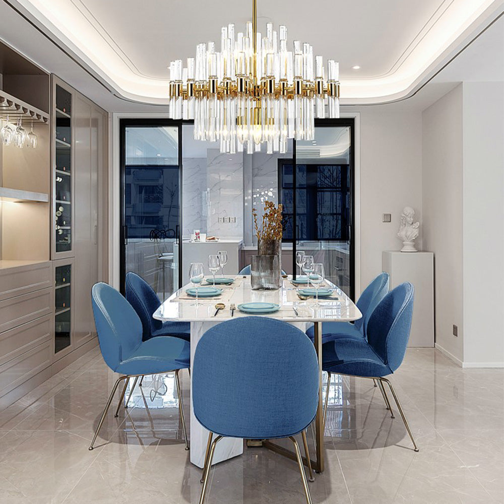 Luxury Glittering Crystal Chandelier - Living Room Pendant Lights - Dining Room