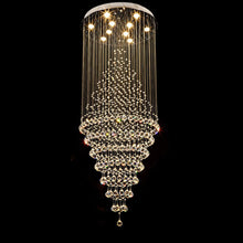 Luxury Modern Round Crystal Chandelier - Staircase Lighting Fixture