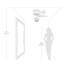 Mini Modern Square Flush Mount Ceiling Light