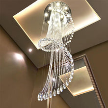 Modern Art Design Crystal Spiral Chandelier - Staircase