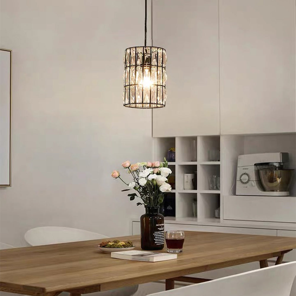 Modern Creative Crystal  Chandelier - Long Line Pendant Light - Living Room