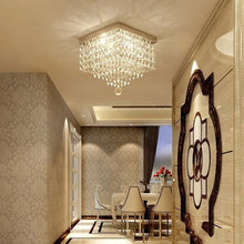 Modern Crystal Flush Mount Ceiling Light-Hallway