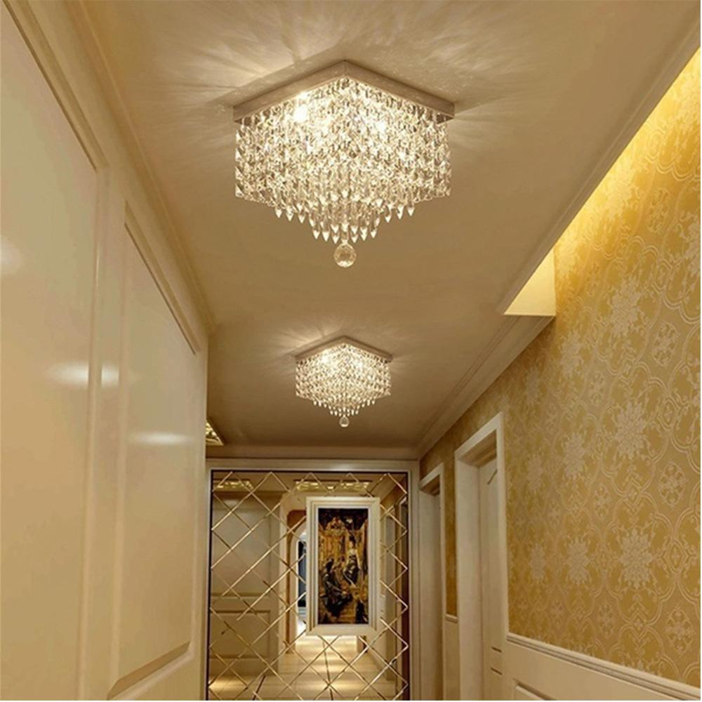 Modern Crystal Flush Mount Ceiling Light -Hallway