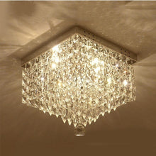 Modern Crystal Flush Mount Ceiling Light