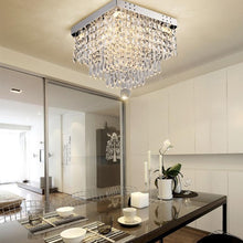 Modern Crystal Flush Mount Ceiling Light - Dining Room