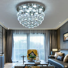 Modern Flush Mount Crystal Chandelier - Fruit  Shaped Ceiling Light - Living Room