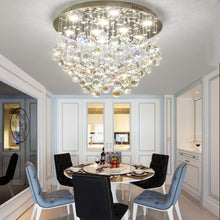 Modern Flush Mount Crystal Chandelier - Fruit  Shaped Ceiling Light - Dining Room