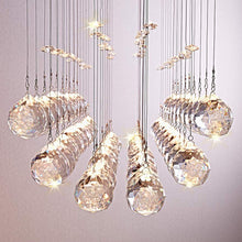 Modern Rectangular  Crystal Ball Chandelier - Dining Table Ceiling Lamp - details