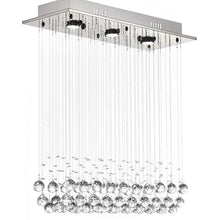 Modern Rectangular  Crystal Ball Chandelier - Dining Table Ceiling Lamp