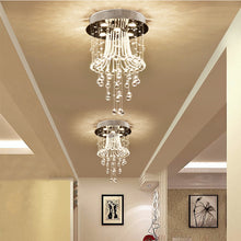 Modern Round Flush Mount Crystal Chandelier - Jellyfish Ceiling Light - Hallway