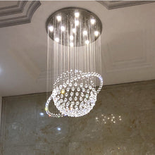 Modern Star Sphere Rain Drop Chandelier with Orbit