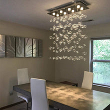 Rectangular Base Bubble Glass Chandelier - Ceiling Lights - Dining Room