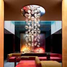 Round Base Bubble Glass Chandelier - Ceiling Lights
