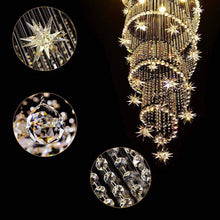 Spiral Meteor Shower Crystal Raindrop Chandelier - Details