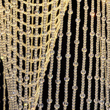 Splendid Waterfall Beaded Curtain Design Crystal Chandelier - details