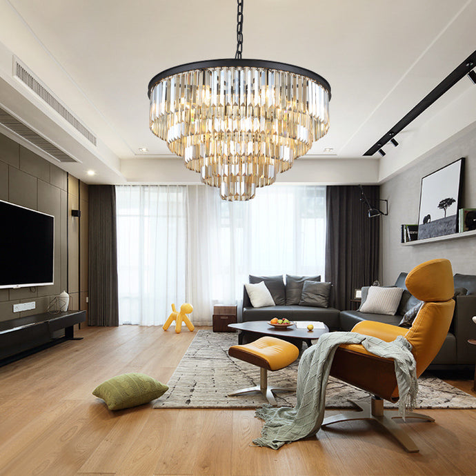 Five & Seven Tiers Crystal Chandelier - Living Room