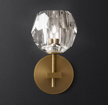Brass Wall Sconce With Crystal Globe