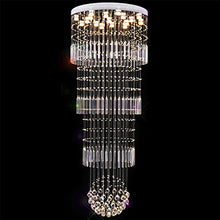 Unique Sphere Rain Drop Crystal Chandelier - Staircase Lighting Fixture