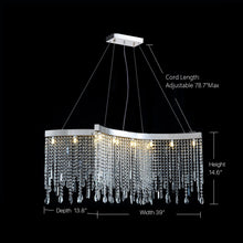 Tassels Linear Crystal Chandeliers Lights