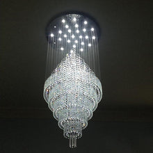 Floating Castle Raindrop Crystal Chandelier - Double Layer with Warm Light