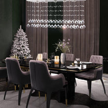 Modern Rectangular Crystal Chandelier Lighting - dining room