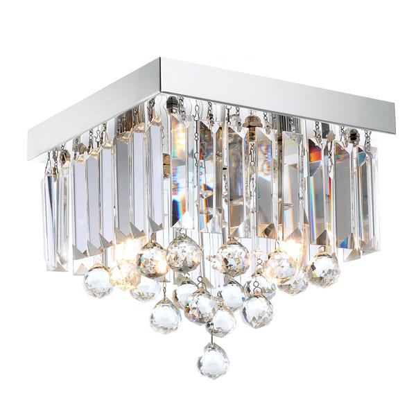 Modern Crystal Raindrop Ceiling Lighting With Warm Light