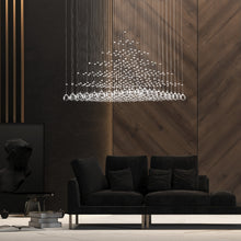 Pyramid Raindrop Square Crystal Chandelier - Ceiling Lights - Living Room