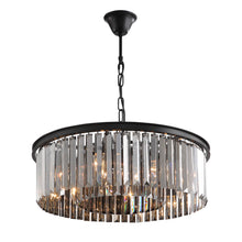 Black Crystal Chandelier - Round Design Pendant Light-detail three