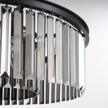 Black Crystal Chandelier - Round Design Pendant Light-detail one