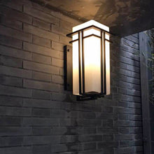 Wall Sconce With White Glass Shade