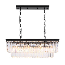 Vintage Clear Crystal Rectangular Chandelier - Dining Room-all