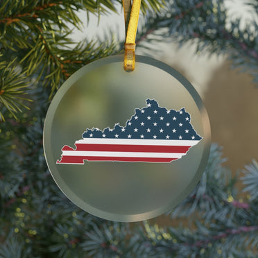 Kentucky American Glass Ornament