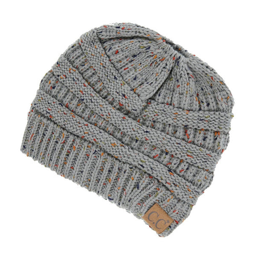 Heather Grey Messy Bun C.C Beanie