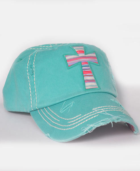 Cross Hat-Teal