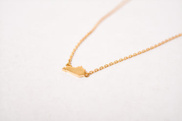 Dainty State Necklace